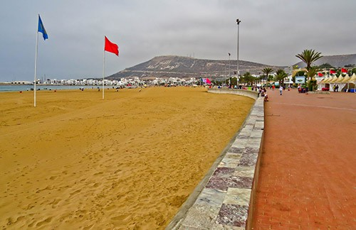 Agadir beach and promenade