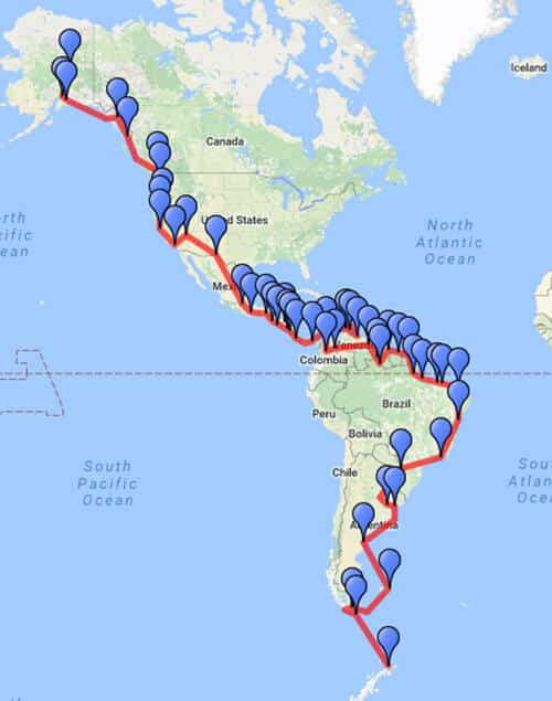 Antarctica to Alaska by land