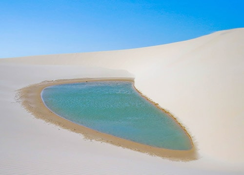 Oasis in Lençóis Maranhenses National Park, Brazil