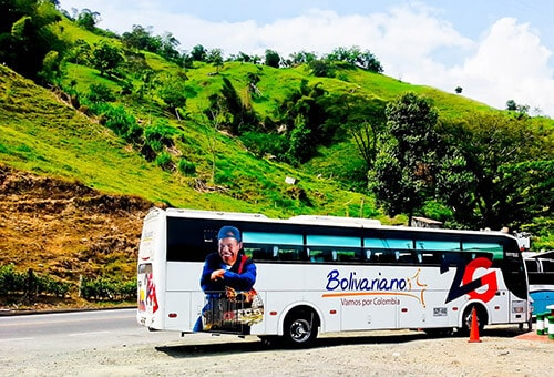 Bus from Medellín to Cali, 9 hours, 48,000 pesos