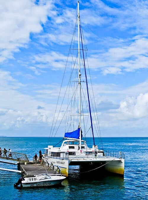 Catamaran from Kourou to the Salvation Islands