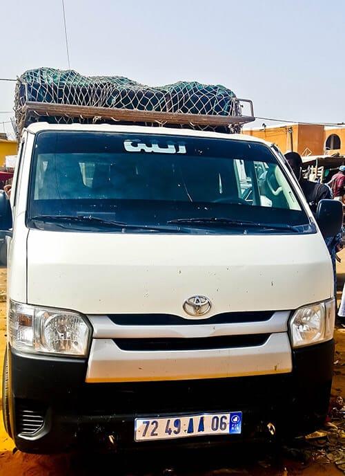Minivan - Nouakchott to Rosso, Senegal border - 2500 Ouguiyas