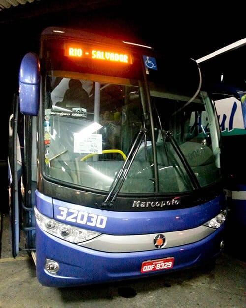 Overnight bus from Rio to Salvador, 30 hours, 292 Reais