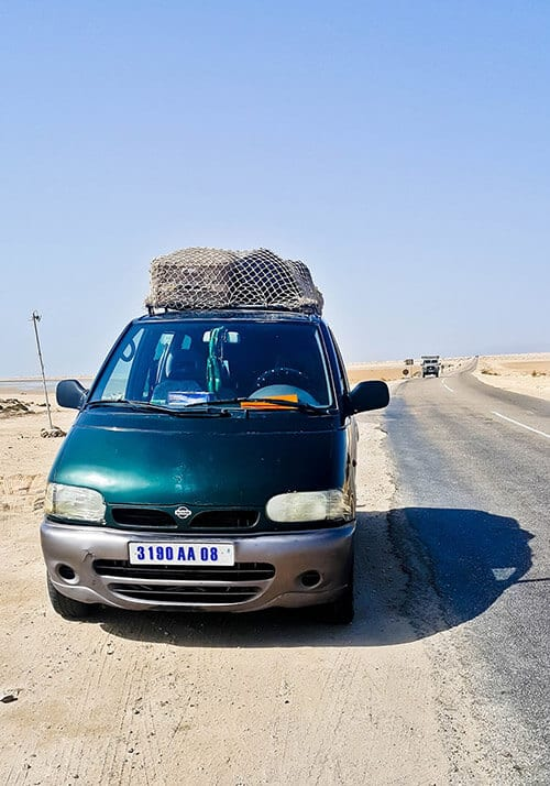 Share taxi, Dakhla to Mauritania border - 350 Dirham