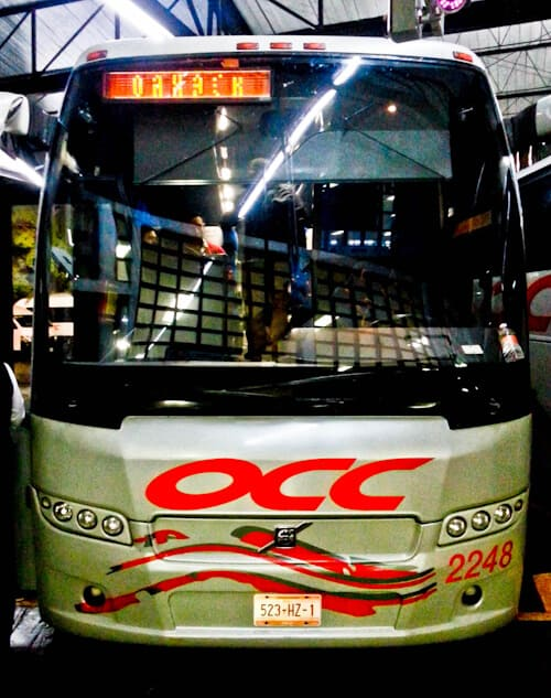 Overnight bus from San Cristobal to Oaxaca