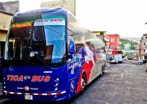 Bus from Tegucigalpa to San Salvador