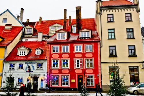 Colorful houses in Riga Old Town