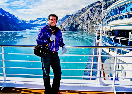 Cruise Ship from Skagway to Glacier Bay National Park, Alaska