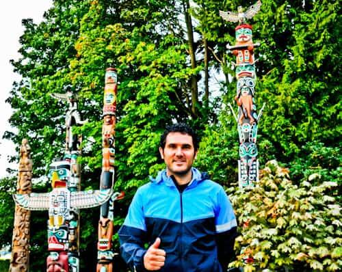 Totem Poles, Stanley Park, Vancouver.