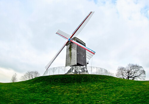 Windmill, Bruges, Belgium