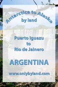 Puerto Iguazu to Rio de Jainero