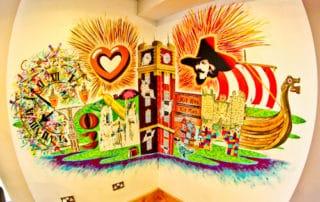 Hotel Indigo York, Streetart Mural