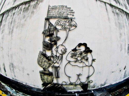 No Plastic Bags Street Art, Penang