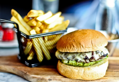 The Lock Kitchen & Bar, Leeds - Cheeseburger with Fries