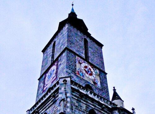Biserica Neagra church spire, Brasov, Romania