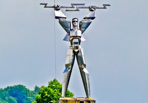 Promotheus Statue, Transfagarasan Road, Romania