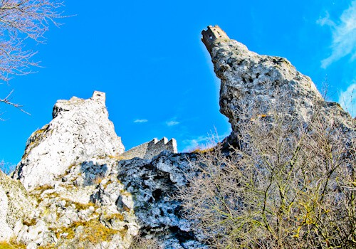 Ancient castle and watch tower ruins, Devin Castle, Devin, Slovakia