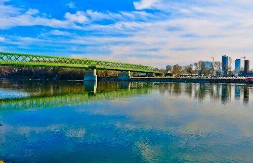 Old Bridge over the River Danube