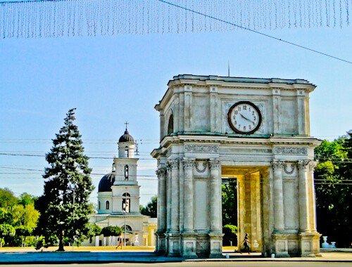 The Triumphal Arch, Chisinau, Moldova