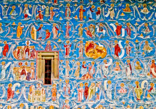 Voronet Monastery exterior painted wall