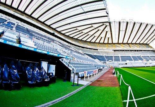 St James' Park Newcastle United, tour al estadio - El terreno de juego