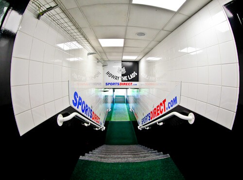 Newcastle United Stadium Tour - St James' Park - Players tunnel