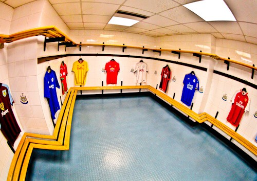 St James' Park Newcastle United Tour al estadio - vestidores del equipo visitante