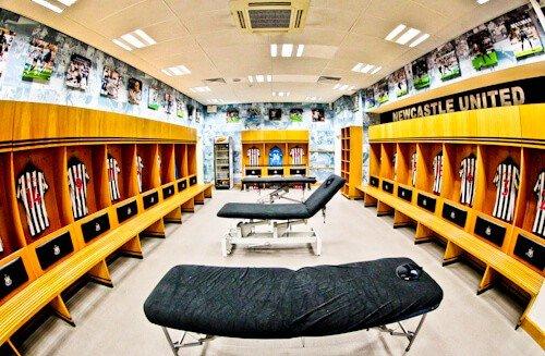 St James' Park Newcastle United - tour al estadio, Vestidores del equipo local