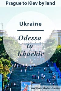 A visit to the points of interest of Odessa, Ukraine including Potemkin Stairs (Primorsky Stairs), Statue of the Duke of Richelieu, Monument to Orange, Odessa Opera and Ballet Theater, Transfiguration Cathedral, Vorontsov Palace, Odessa City Hall, Parks of Odessa, Museums of Odessa, Port of Odessa, Black Sea Facts, Arcadia Beach, Lanzheron Beach and nightlife before taking the bus to Kharkiv