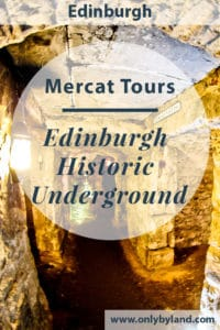 Edinburgh Historic Underground - Mercat Tours - A trip the the underground city of Edinburgh, the capital of Scotland