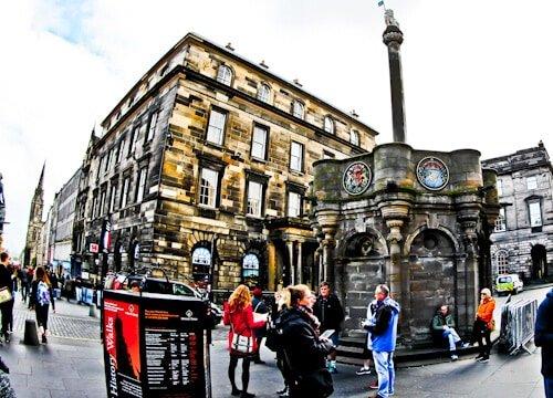 Mercat Cross, Mercat Tours, Royal Mile, Edinburgh