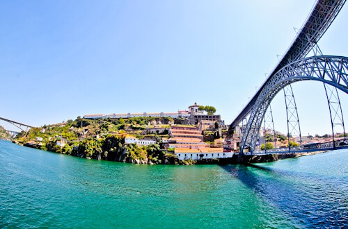 Dom Luis I Bridge and Maria Pia Bridge, Porto Portugal