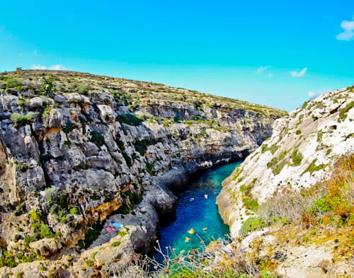 Wied il-Ghasri canyon, Gozo Malta
