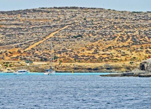 Blue Lagoon, Malta - viewed from the Malta Gozo ferry