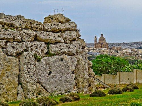 The Ggantija Temples UNESCO site Gozo Malta