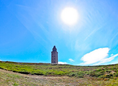 Tower of Hercules - UNESCO Roman lighthouse, A Coruña, Spain