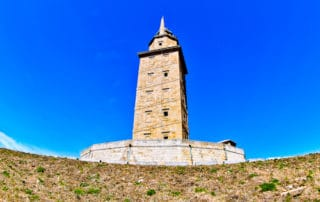 Tower of Hercules Roman Lighthouse, A Coruña, Galicia, Spain