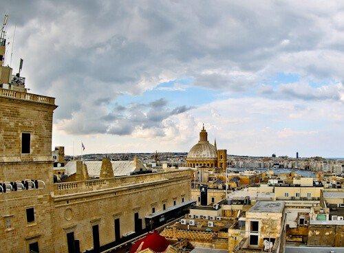 The Saint John, Valletta, Malta - Rooftop view