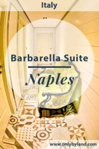 Barbarella Suite, Naples is a hotel and suite in Naples.  Suites include private hammam, massage table and bath spa.