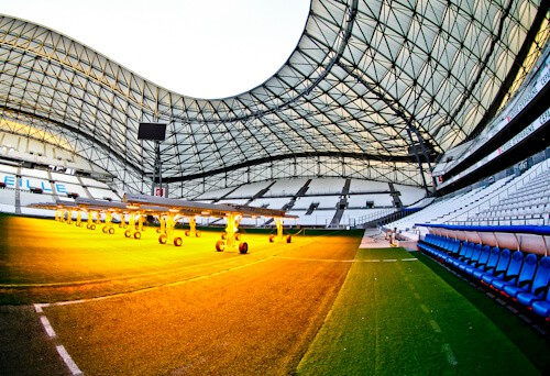 Olympique de Marseille, Orange Velodrome, Stadium tour, pitch side