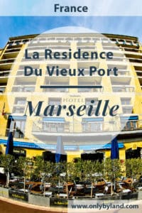 La Residence de Vieux Port, Marseille. A high end hotel located in the old port area of Marseille. The hotel has balconies offering premium views of the port and the Notre Dame de la Garde of Marseille.