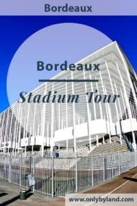A stadium tour of the Matmut Atlantique. The home stadium of Bordeaux