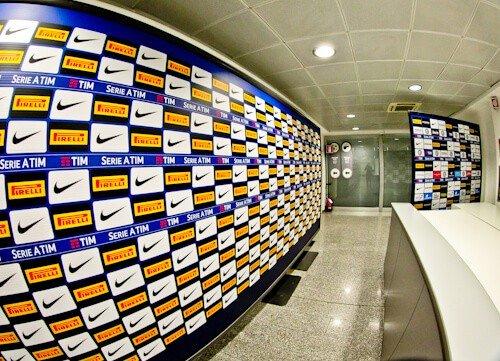 Inter Milan / AC Milan San Siro Stadium Tour - press interview area