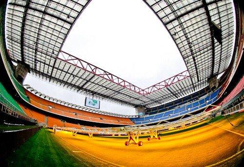 Inter Milan / AC Milan San Siro Stadium Tour - pitch side