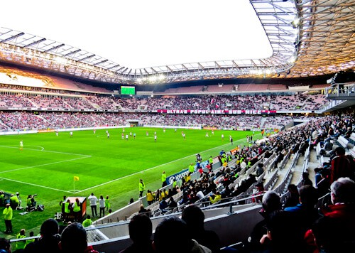 OGC Nice - matchday experience - Allianz Riviera stadium - match day atmosphere