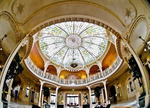 Gustave Eiffel designed cupola, Hermitage Hotel, Monte Carlo, Monaco