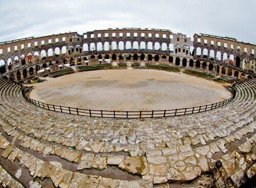 Pula Arena Croatia Roman Amphitheater, The arena