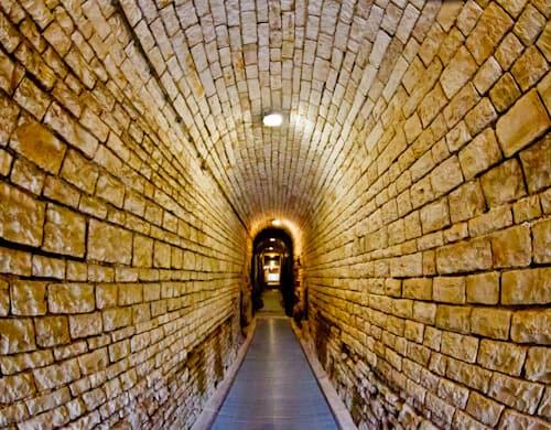 Pula Arena Croatia Roman Amphitheater, Entrance to the underground