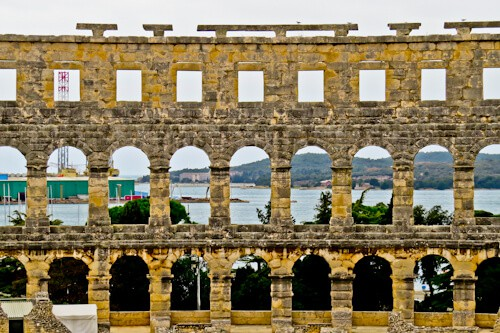 Pula Arena Croatia Roman Amphitheater, Arena with a view