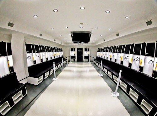 Juventus Allianz Stadium Tour, Turin - home team dressing room